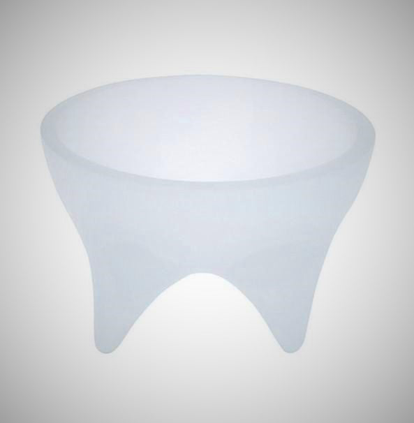 Raised Round Food/Water Bowl - Light Blue Ice - NEW!!!