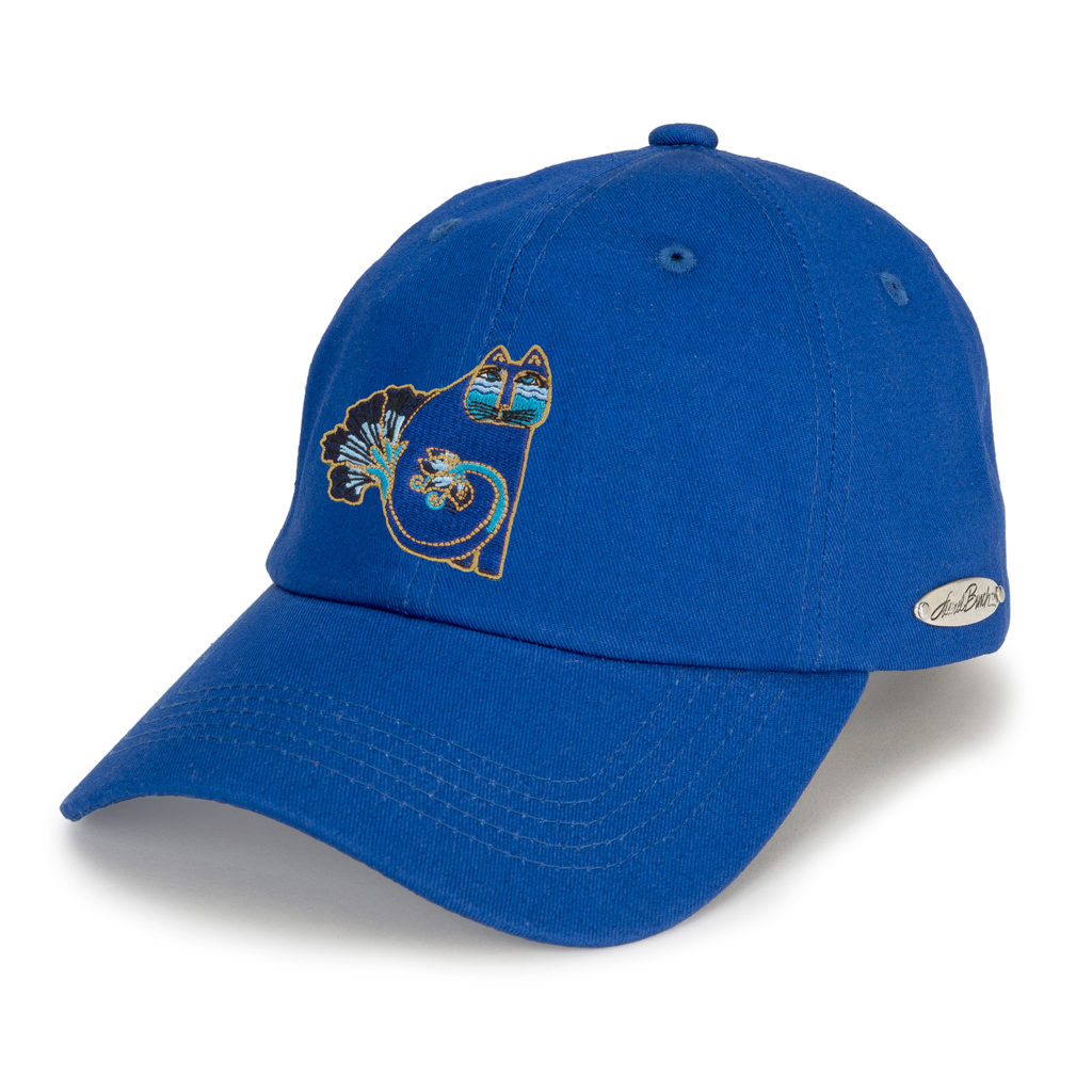 Laurel Burch™ Indigo Cat Embroidered Cap - SALE!