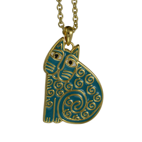 Laurel Burch™ Jubilee Turquoise Cat Pendant - NEW!!!