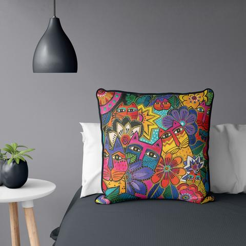 Laurel's Garden Cat Pillow - NEW!!!