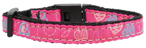 Crazy Hearts Cat Nylon Breakaway Collar - Many Colors - NEW!!!