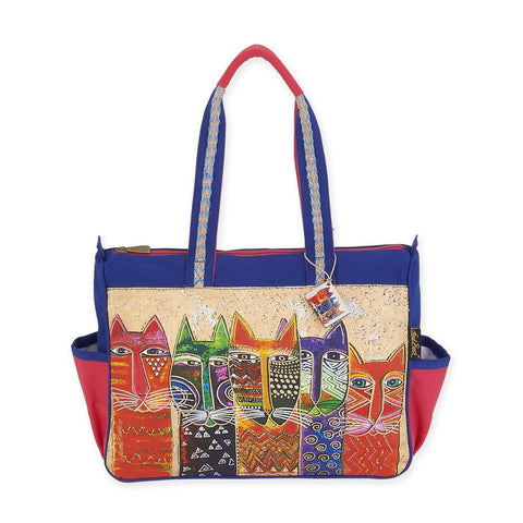 Laurel Burch™ Long Neck Cats Medium Shoulder Tote - NEW!!!