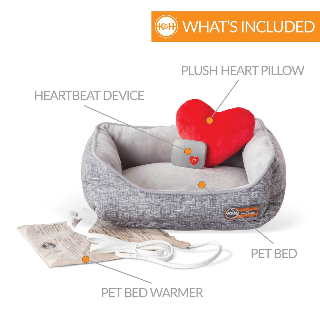 Mother's Heartbeat Heated Kitty Bed w/Heart Pillow - NEW!!!