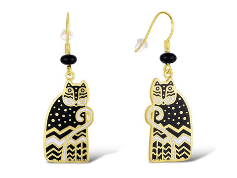 Laurel Burch™ Polka Dot Gatos Drop Earrings - NEW!!!
