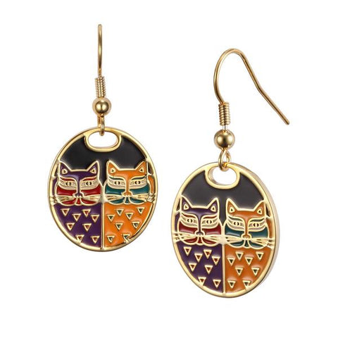 Laurel Burch™ Portrait Cats Earrings - NEW!!!
