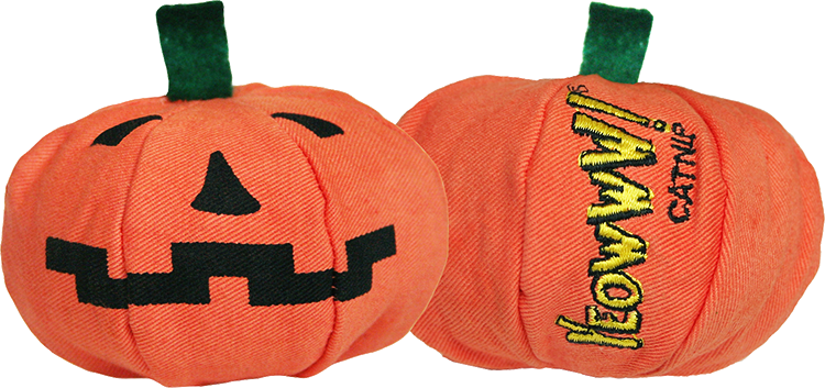 Yeowww!™ Pumpkin Catnip Toy - purr-fect for your Meow-lo-ween Cats!