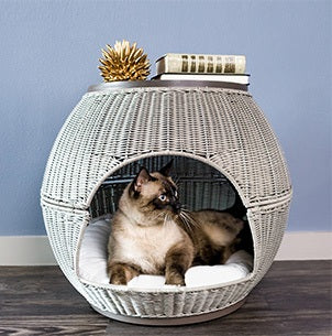 Refined Feline Cat Igloo Deluxe™ Bed & End Table - NEW LOWER PRICE!!!