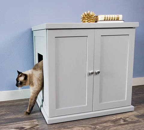 Refined Feline Litter Box and Cabinet - Regular Size - NEW!!!