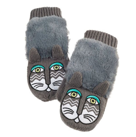 Laurel Burch ™ Fantasticats Cat Critter Mittens in Grey – SALE - 25% OFF - LOW STOCK!