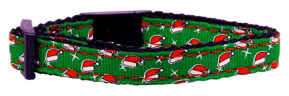Holiday Cat Nylon Breakaway Collar - Santa Hats Christmas Design - NEW!!!