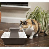 Drinkwell Pagoda Cat Fountain - Taupe Ceramic