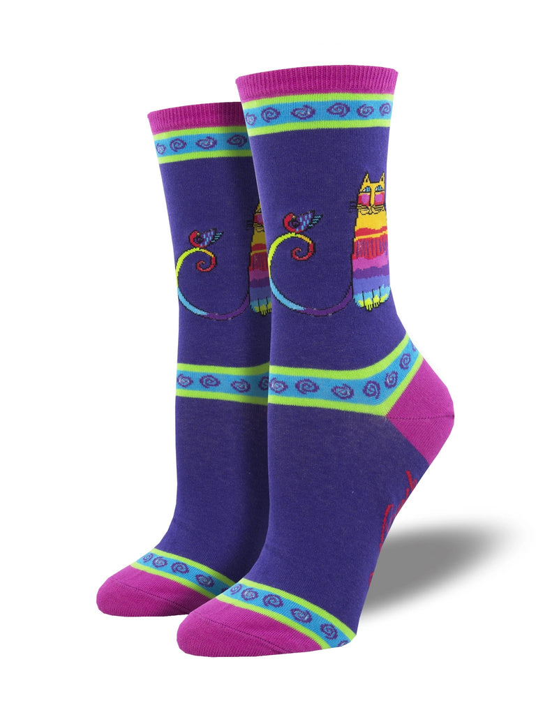 Laurel Burch™ Rainbow Cat Socks - NEW!!!