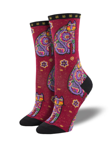 Laurel Burch™ Thanks Cat Socks - NEW!!!