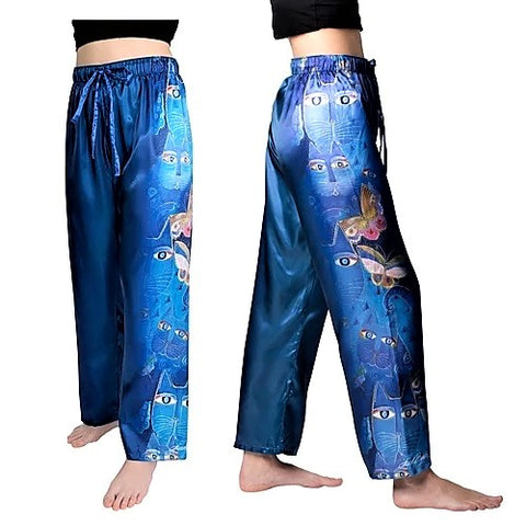Laurel Burch ™ Indigo Cats Silky Loungewear - NEW!!!