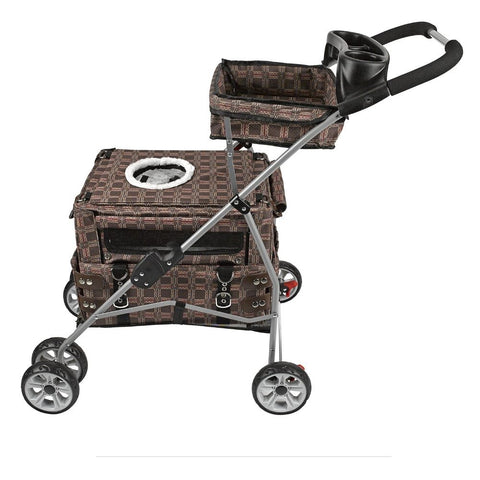Kittywalk® Flying Stroller Royale - Cat Carrier and Stroller, All in One!