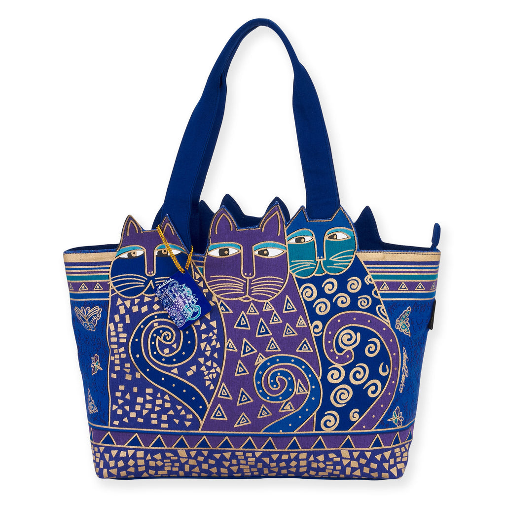 Laurel Burch™ Indigo Cats Large Cutout Shoulder Tote - NEW!!!