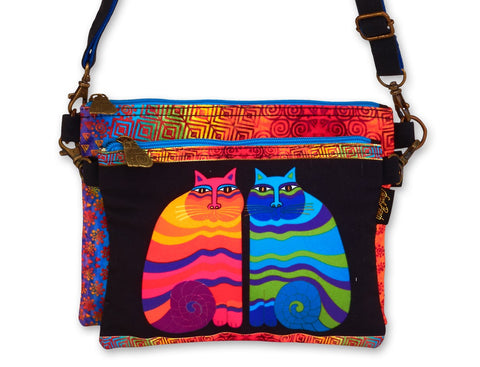 Laurel Burch™ Rainbow Felines Double Crossbody Bag - NEW!!!