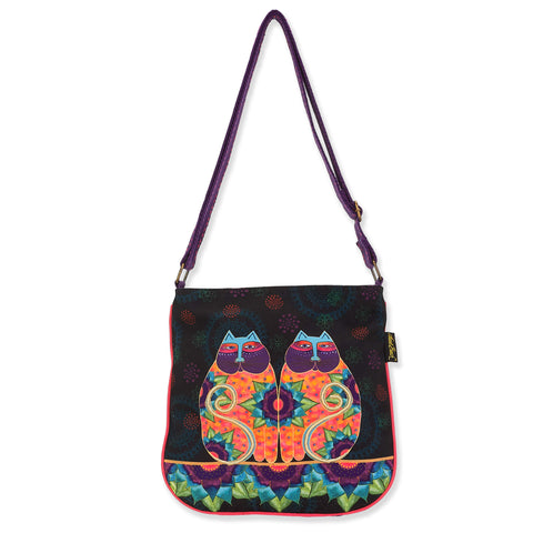 Laurel Burch™ Celestial Felines Cross Body Tote - NEW!!!