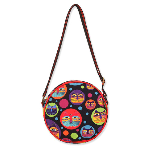Laurel Burch™ Feline Faces Round Cross Body Bag - NEW!!!