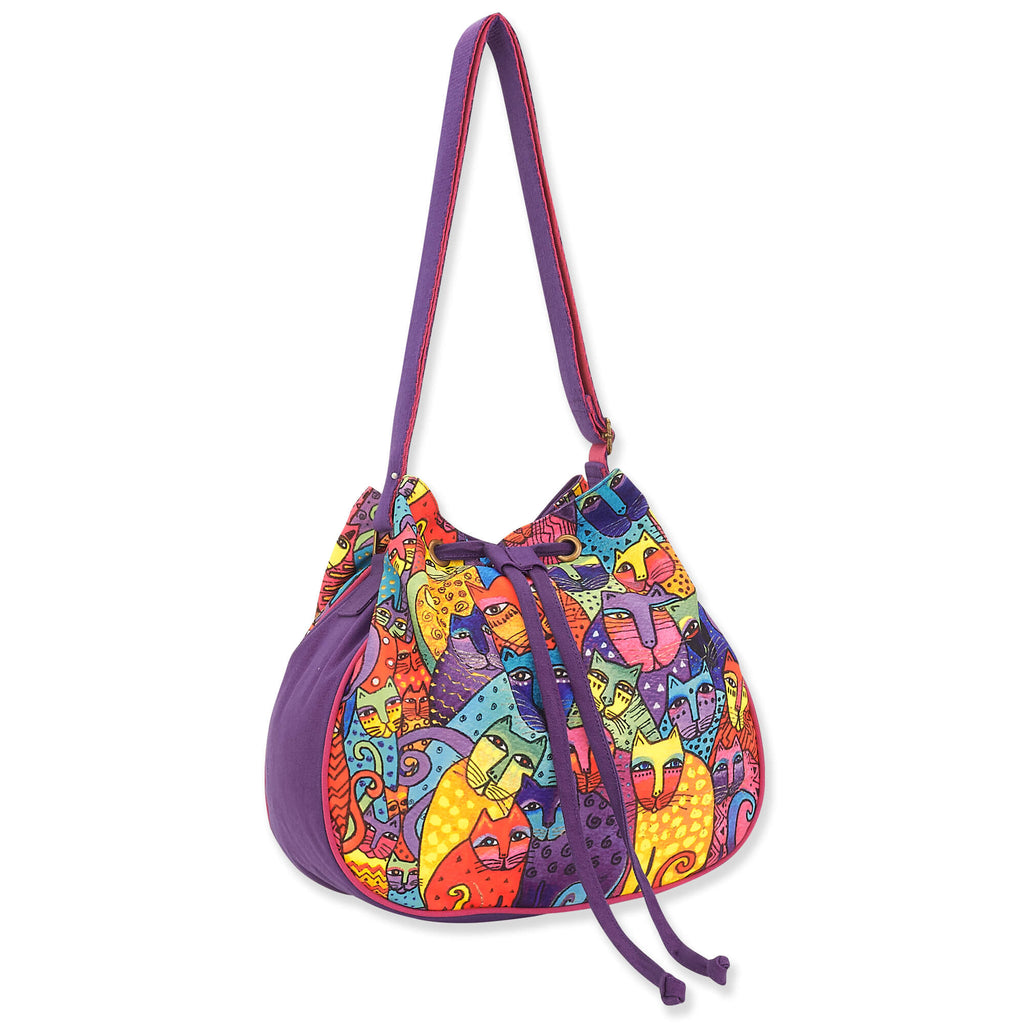 Laurel Burch™ Feline Tribe Drawstring Cross Body Bag - NEW!!!
