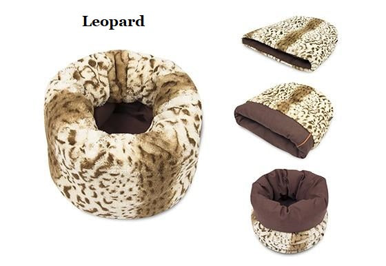 Luxurious Multi-Functional Snuggle Cat Bed - Five Beautiful Patterns!!