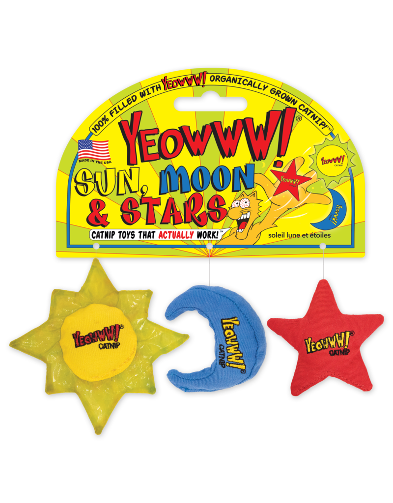 Yeowww! Sun, Moon & Stars Catnip Toy Set - NEW!!!