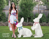 2 Large Yard Rabbits Easter Display