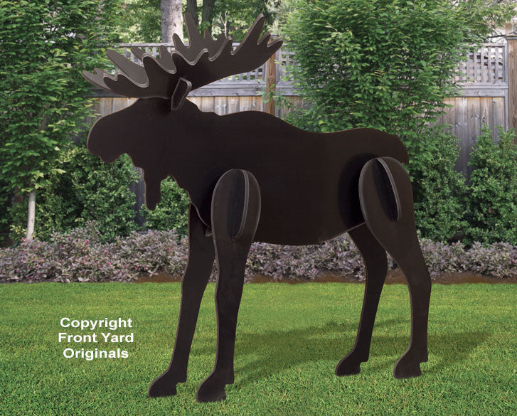 All-Weather Large Black Moose Yard Display
