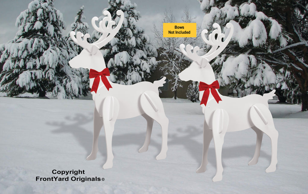 All-Weather Large Elegant Reindeer Display (2 - Head-up)