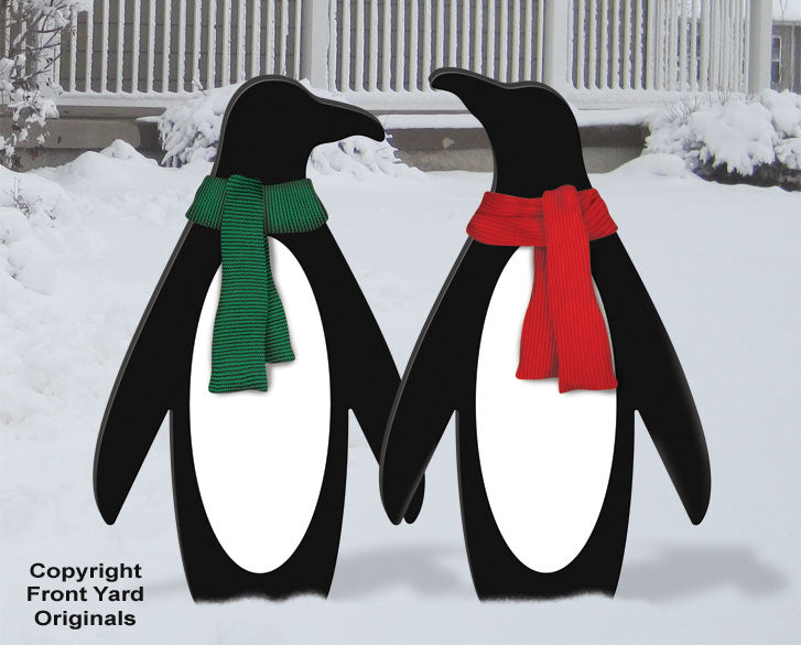 Holiday Penguin Pair Outdoor Display