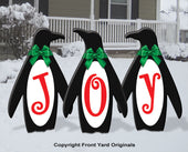 Joy Penguin Trio Outdoor Display