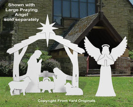 Large White Outdoor Nativity Display