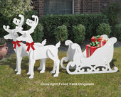 Medium Elegant Reindeer and Sleigh Display