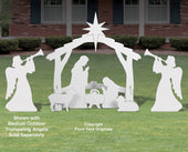 Complete Medium White Outdoor Nativity Scene