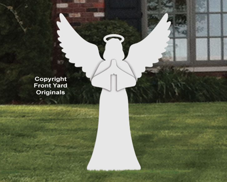 Medium Outdoor Praying Angel