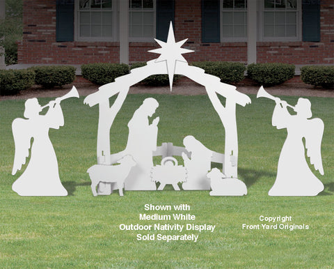 Medium Outdoor Trumpeting Angels