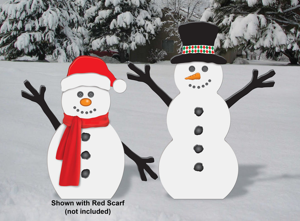 All-Weather Jolly Snowmen