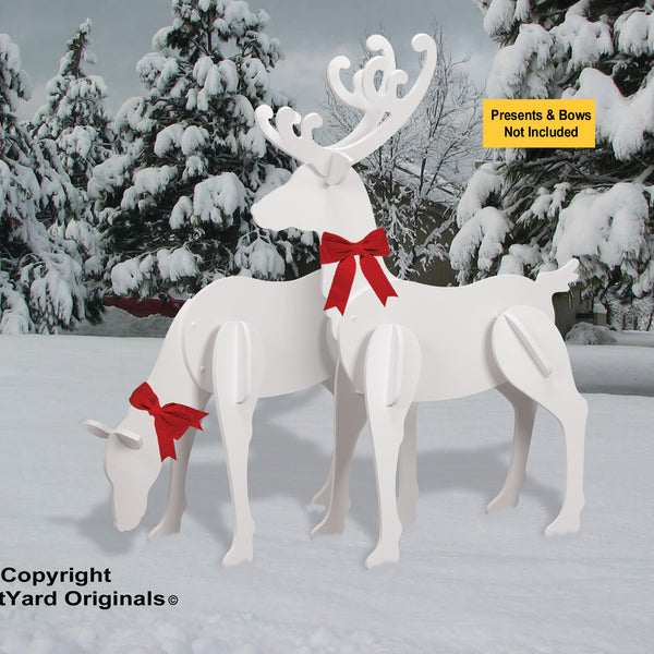 All-Weather Large Elegant Reindeer (Head-up, Head down)