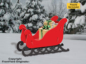 All-Weather Large Elegant Sleigh (RED)