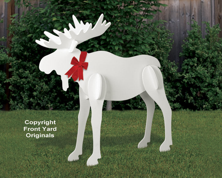 All-Weather Large Christmas Moose Yard Display
