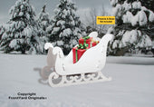 All-Weather Large Elegant Sleigh (White)
