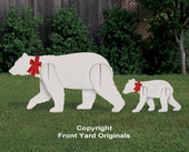 All-Weather Polar Bear and Cub Yard Display