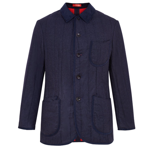 udeshi navy loden quilted jacket