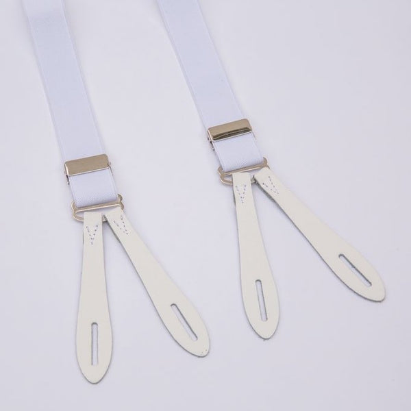 Vintage Narrow Braces White