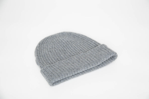 Cashmere Knit Beanie (Light Grey)