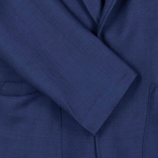 Blue English Wool Mohair Barchatta Blazer