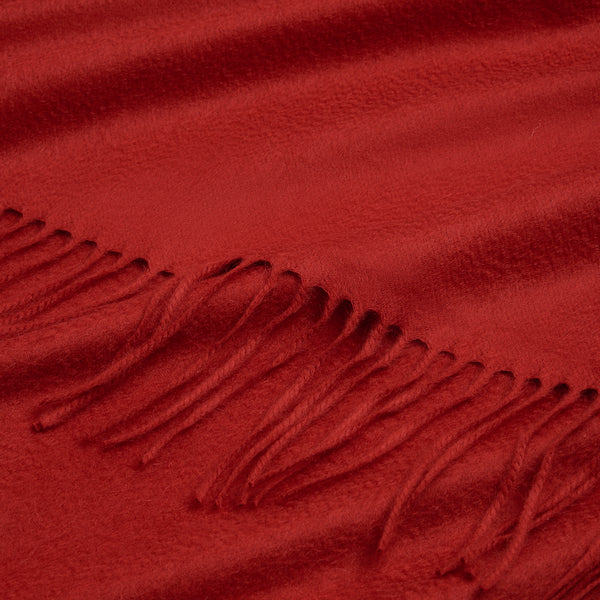 Red Cashmere Blanket