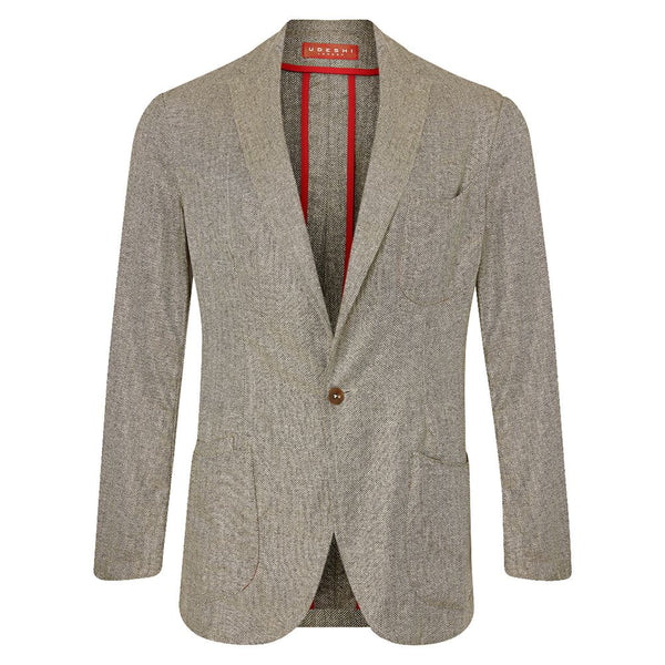 Toffee and Honey Silk Barchetta Blazer