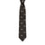 Elephant Motif Silk Tie Black