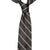 Double Stripe Mogador Silk Tie Black